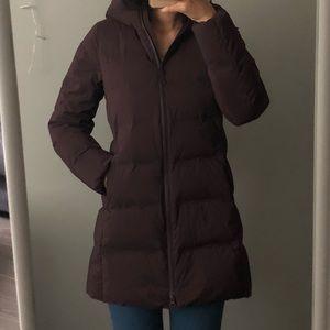 Uniqlo coat. Purple. XS